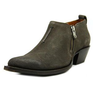 Frye Sacha Moto Shootie Pointed Toe Suede Boots